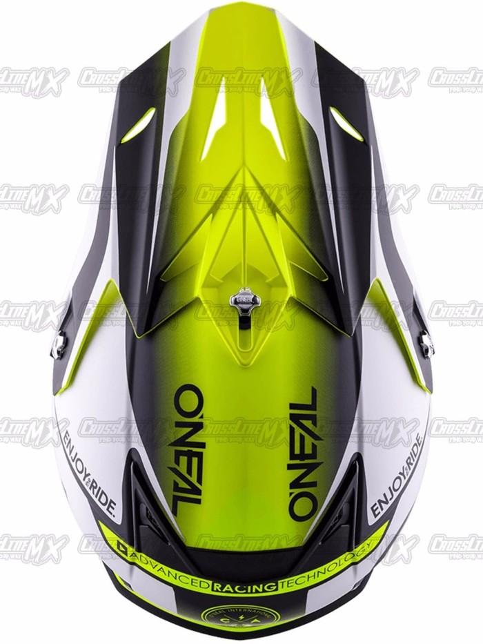 BEST SELLER Helm Cross Oneal 5 Series BLOCKER Black Hi Vis HELMET O N 3