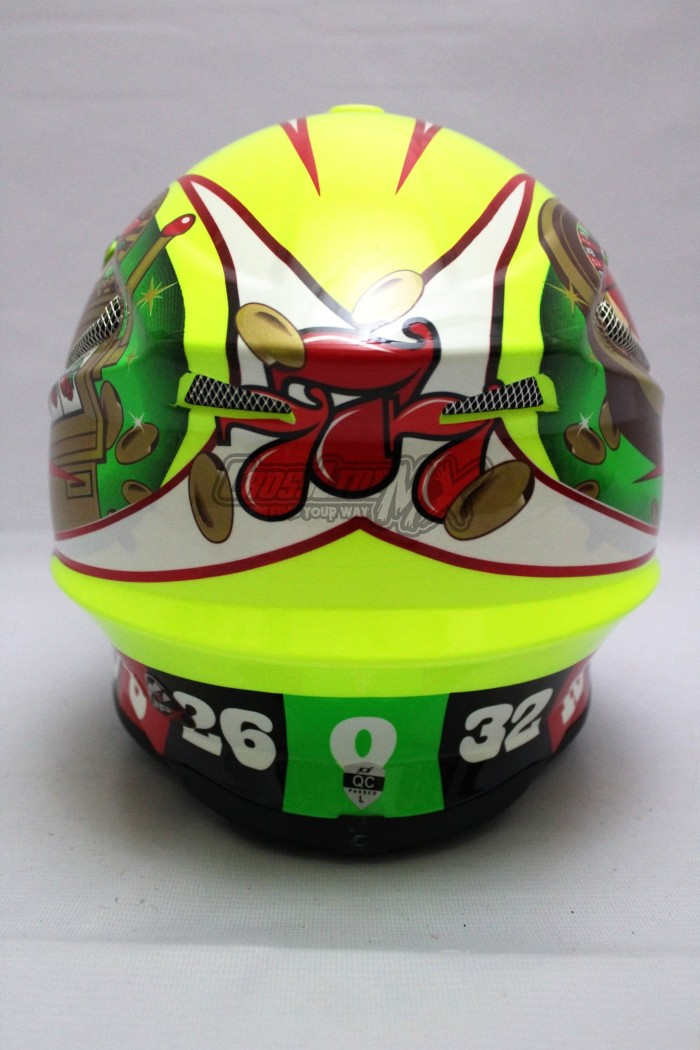 BEST SELLER HELM CROSS JPX MODEL AIROH MOTOCROSS YELLOW GREEN RED 4