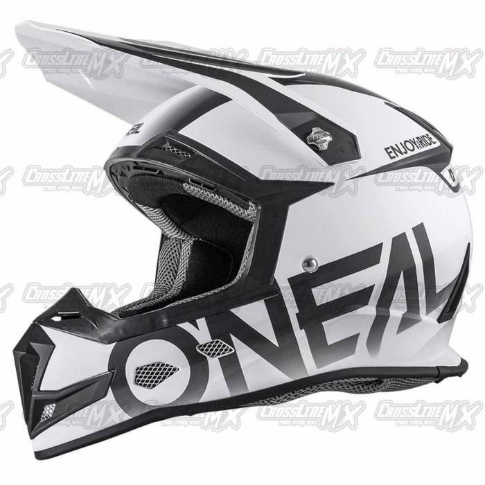 BEST SELLER Helm Cross Oneal 5 Series BLOCKER Black White HELMET O NE 4