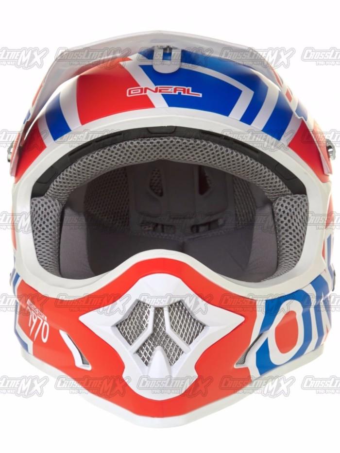 BEST SELLER Helm Cross Oneal 3 Series RADIUM Red Blue White HELMET O 2