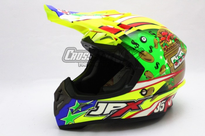 BEST SELLER HELM CROSS JPX MODEL AIROH MOTOCROSS YELLOW GREEN RED 2