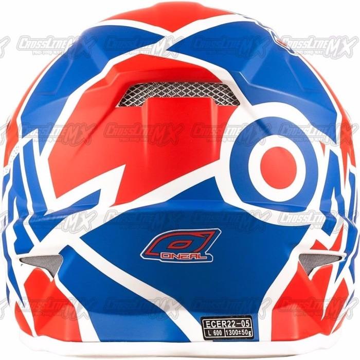 BEST SELLER Helm Cross Oneal 3 Series RADIUM Red Blue White HELMET O 4