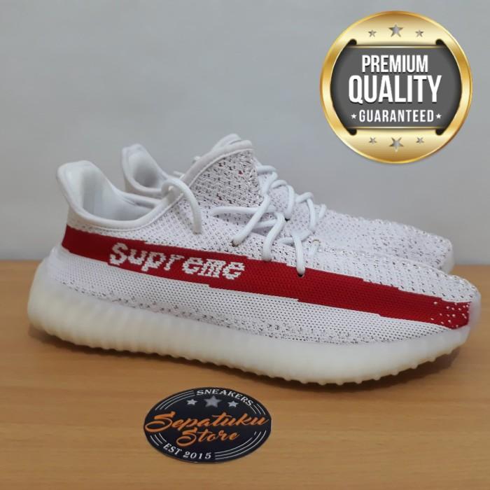 b66887353f8 Jual Sepatu Adidas Yeezy Boost 350 V2 Supreme White Red - Premium ...
