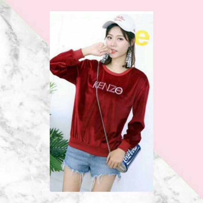 Jual sweater wanita import murah bahan velvet best quality - cleosa ... b7e605e7e2