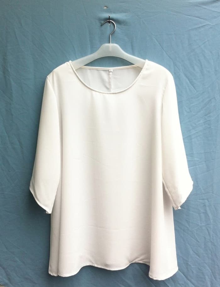 ATASAN BAJU WANITA Blouse Wanita Big Size 2L, 3L, 4L & 5L Warna Putih