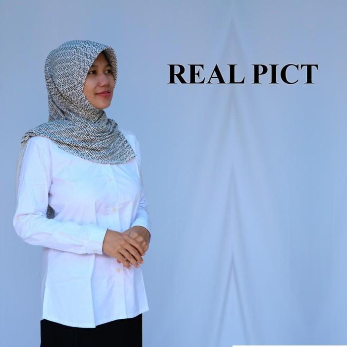 Baju Kemeja Wanita Putih Panjang