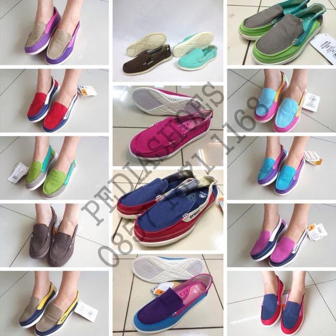 Jual Sepatu Wanita Crocs Walu Canvas Loafer Original (GROSIR dan ... 3649af3a43
