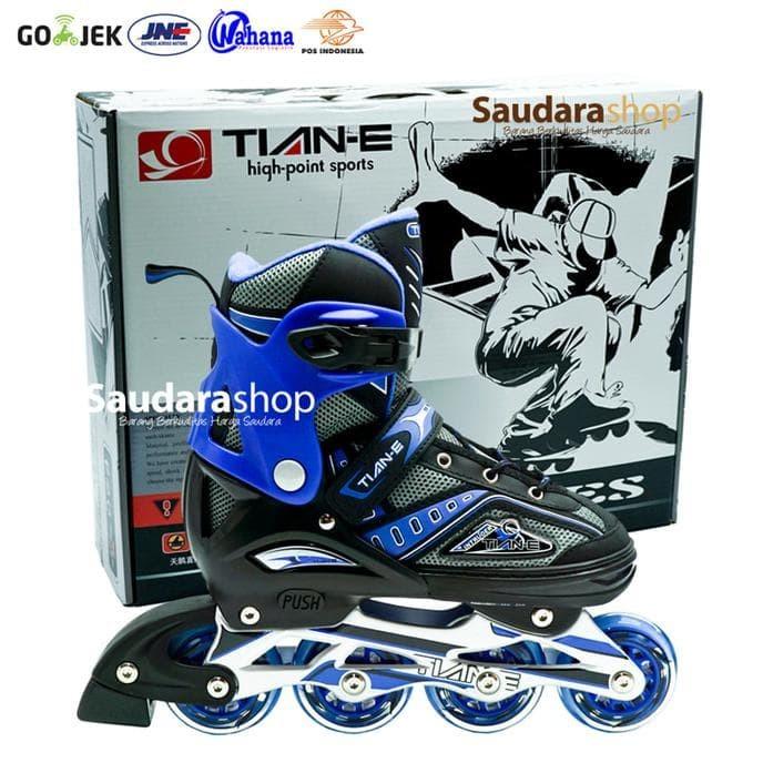 Jual Tian-E Sepatu roda Inline Skate Roda Karet PINK   SepatuRoda ... c935b2b61f