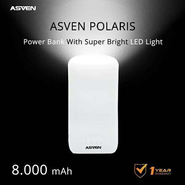 harga Asven powerbank polaris 8.000mah super bright led Tokopedia.com