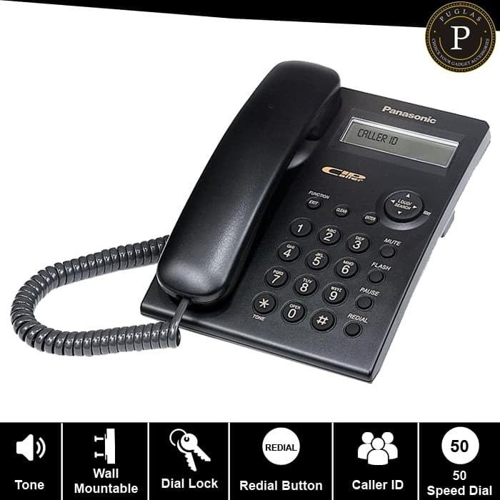 harga Telepon panasonic kx-tsc11 / telephone kantor / telepon rumah - black Tokopedia.com