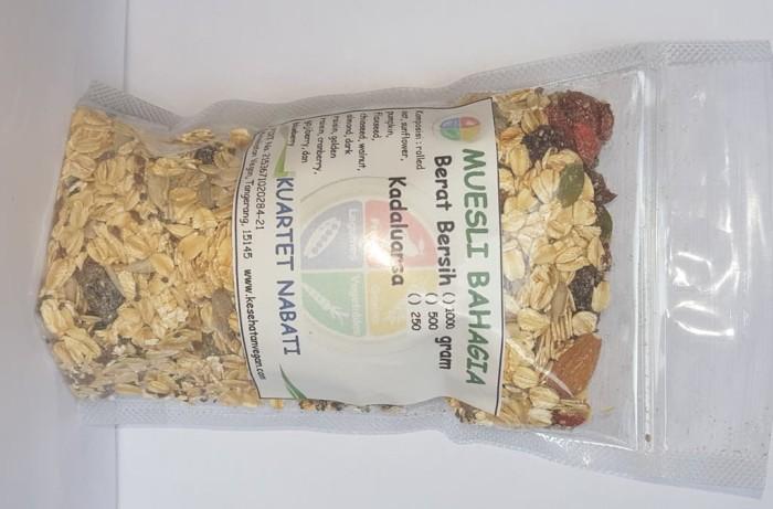 Foto Produk Muesli Bahagia - 12 mcm : rolled oat, buah kering, kacang, & biji 250g dari Minimarket Vegan