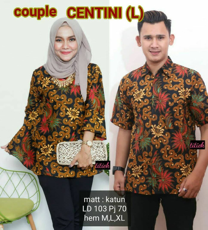 103 Contoh Baju Batik Pasangan Kekinian