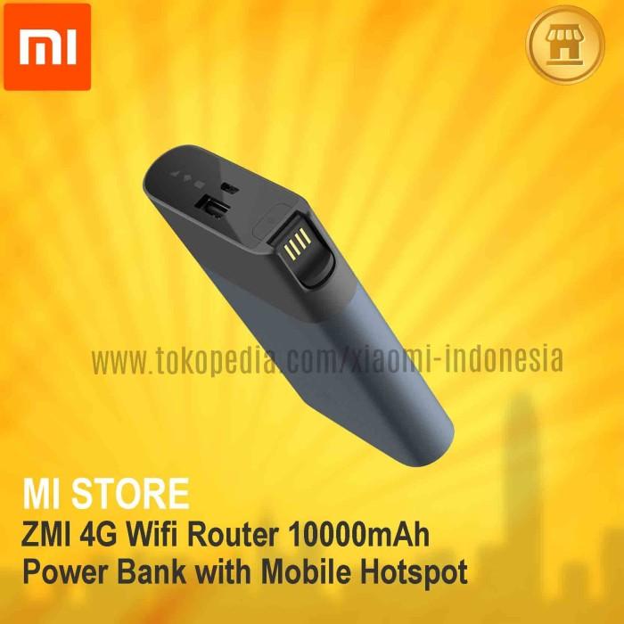 harga Xiaomi zmi 4g wifi router 10000 mah power bank with mobile hotspot Tokopedia.com