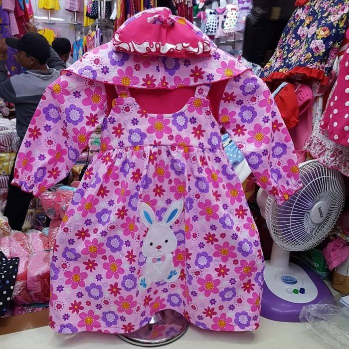 harga Grosir gamis baju muslim anak umur 1 tahun dengan jilbab bahan kaos Tokopedia.com