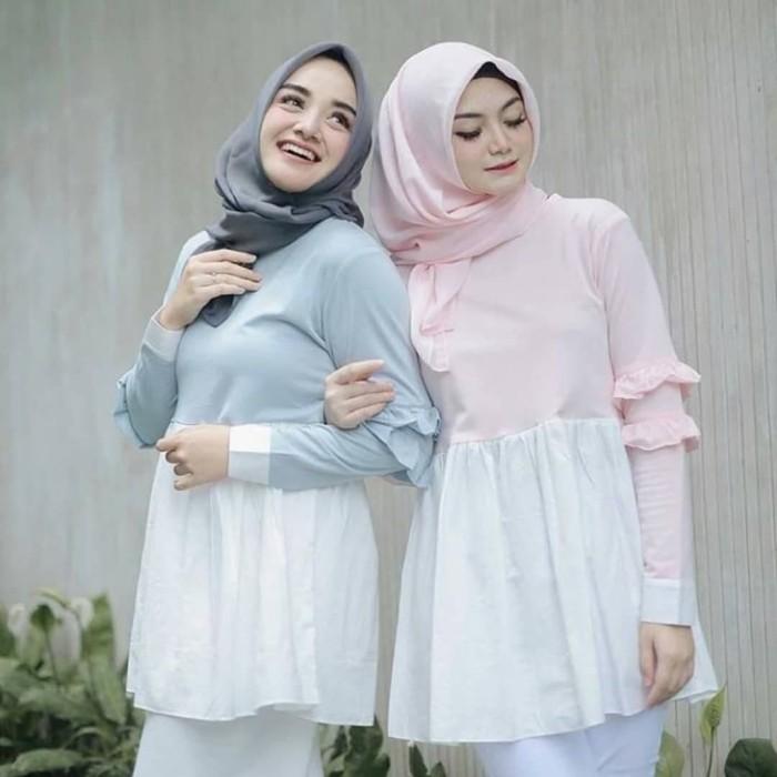 Tunik prasinta tunic balotelly baju kerja atasan wanita muslim casual