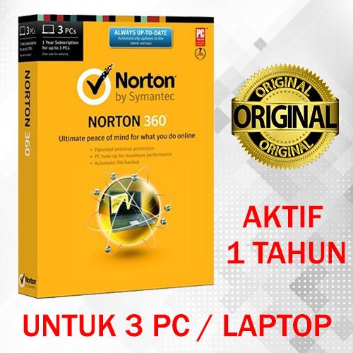 Jual Antivirus Norton 360 New 1 Tahun untuk 3 PC / Laptop (Original) - ID  Game Shop | Tokopedia