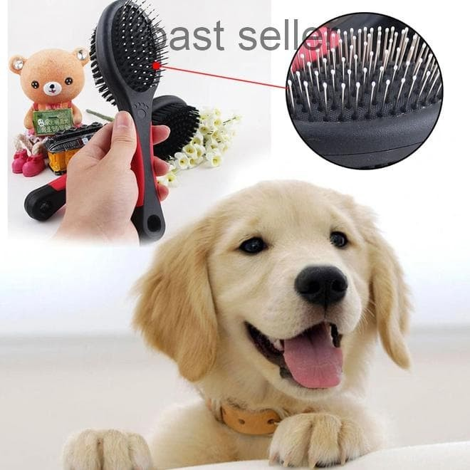 Pet rambut anjing kucing bulu penghias garu sisir sikat bulunya profesional alat 18 cm. Source