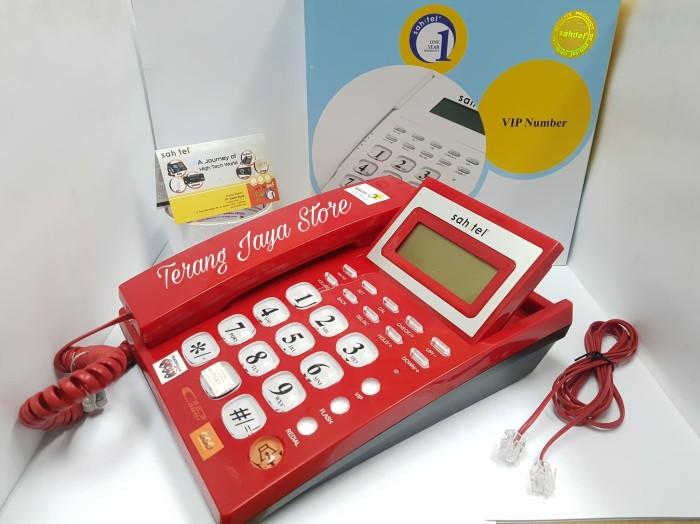harga Cable phone sahitel s-57 telepon kabel rumah (merah) Tokopedia.com