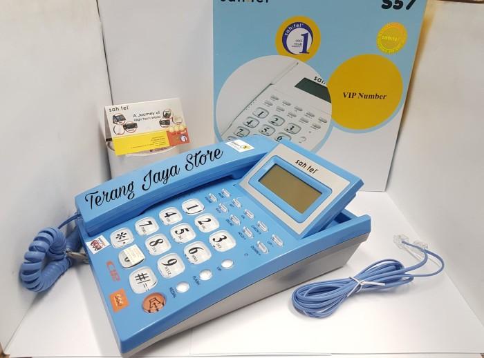 harga Telepon kabel sahitel s57 cable phone rumah (biru) s-57 Tokopedia.com