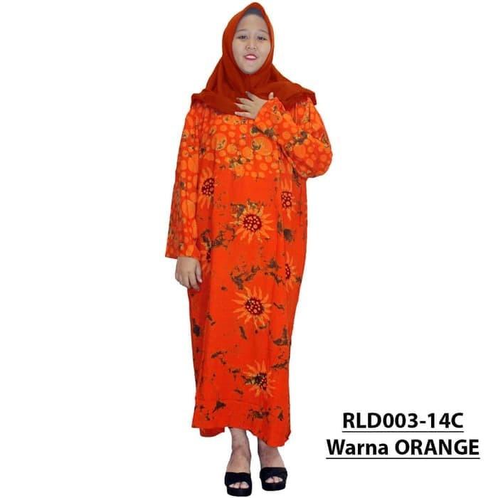 Longdress Batik Jumbo Lengan Panjang, Daster Jumbo Batik RLD3-14 Murah