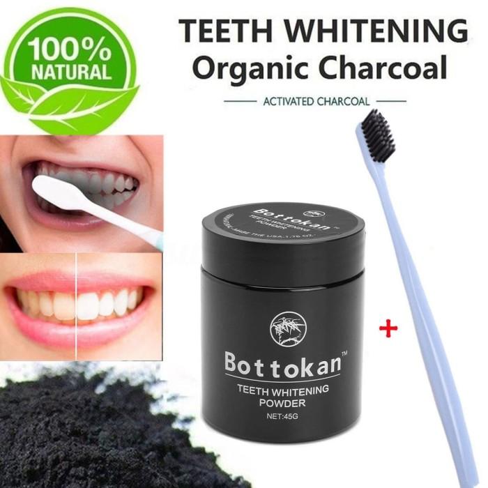 Jual Bottokan Tooth Powder Activated Charcoal Arang Pemutih Gigi