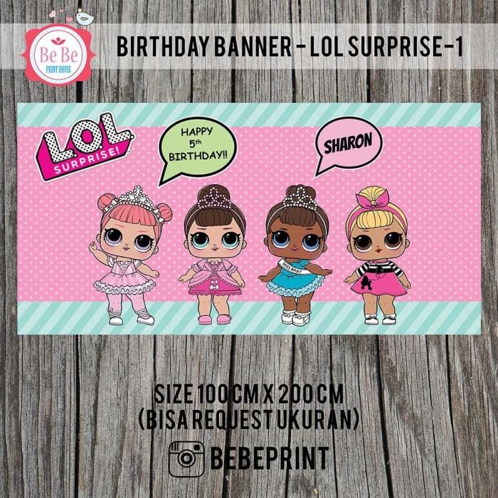 Contoh Backdrop: Jual Banner Backdrop Spanduk Ulang Tahun Birthday LOL