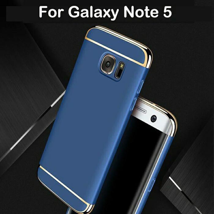 Foto Produk 3 in 1 Case Samsung Galaxy Note 5 Note5 Back Cover Casing - Emas dari A and A Shop