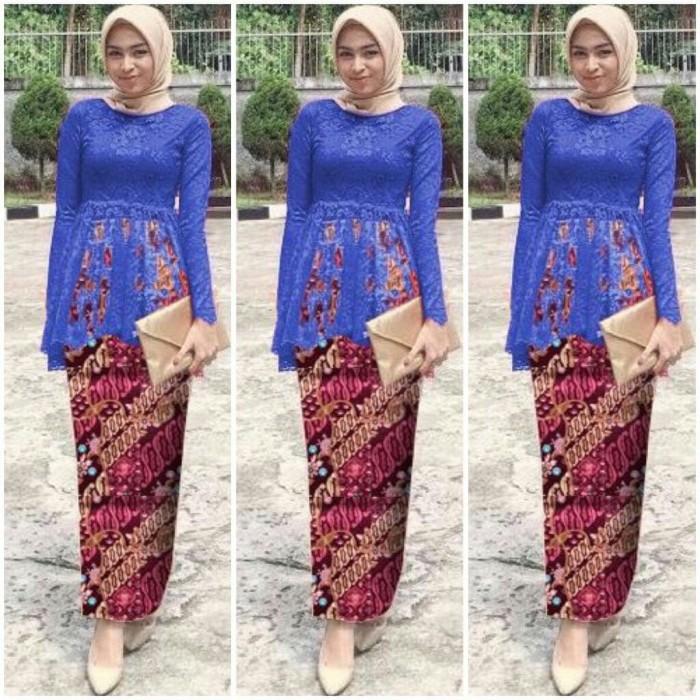 Jual Kebaya Wisuda Modern Muslim Diana Rok Batik Jakarta Utara Putputcollection Tokopedia