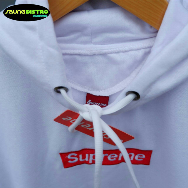 Hoodie Supreme Jaket Sweater Unisex Pria Wanita - Merah Muda, L