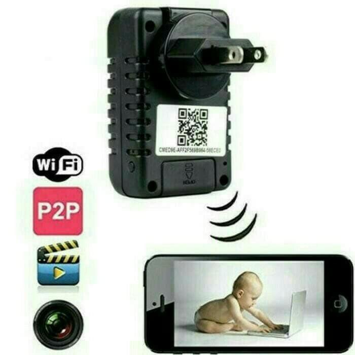 Spy Kamera Pengintai Colokan Listrik CCTV Wifi Ip Camera Adaptor A1