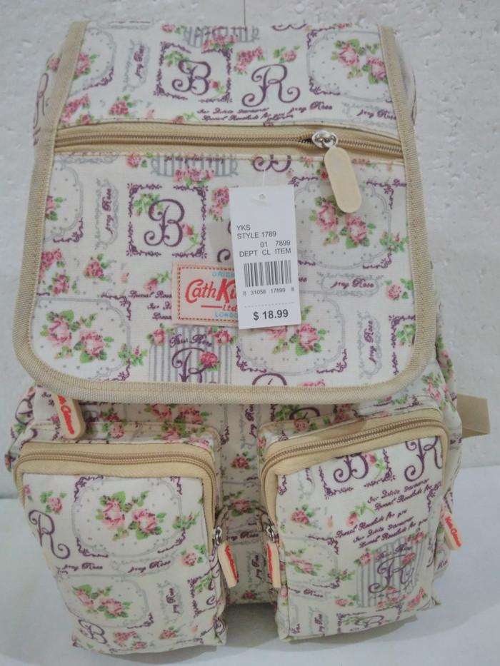 harga Tas ransel wanita cath kidston putih. tas sekolah cath kidston putih Tokopedia.com