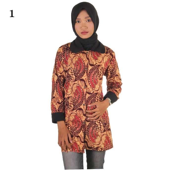 harga Blus batik   kemeja batik wanita talita Tokopedia.com