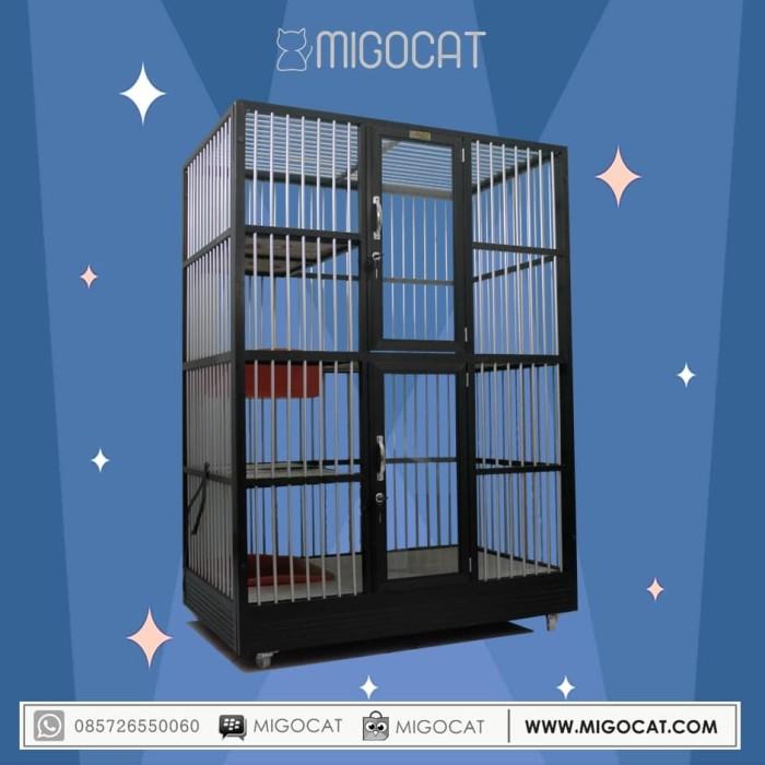harga Kandang kucing aluminium migocat 2 kamar tingkat Tokopedia.com