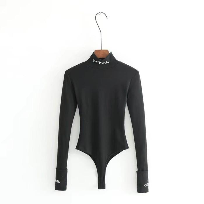 harga Baju kaos t-shirt wanita black small turtle neck (m) import original Tokopedia.com