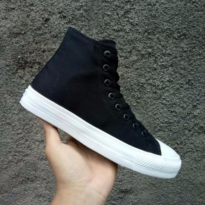 Sepatu Converse All Star CT2 Chuck Taylor II Lunarlon High Black Whi a339ecda1b