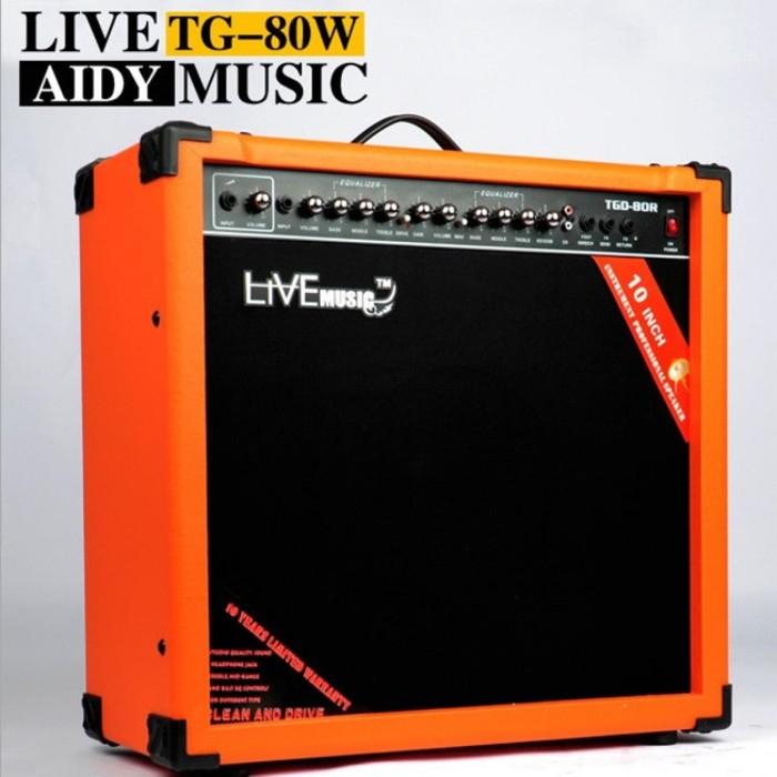 harga Live music tg-80w electric guitar amplifier reverberation 2 port 80w Tokopedia.com