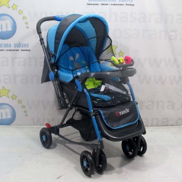 harga Pliko pk268 grande 2in1 baby stroller kereta dorong bayi & ayunan blue Tokopedia.com