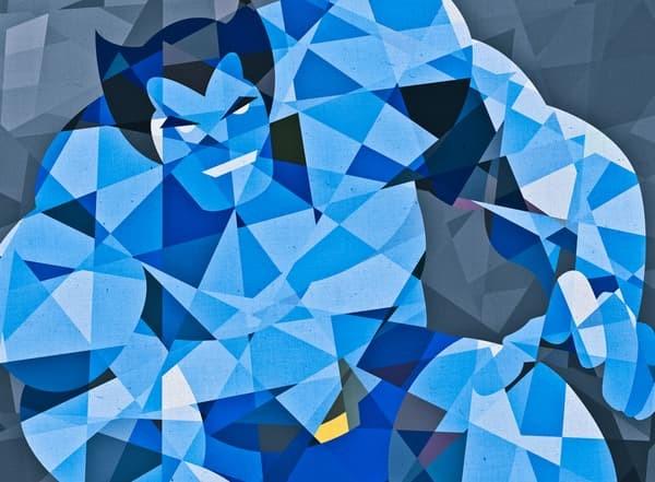 harga Superhero digital art [beast-geo] size 40x40cm Tokopedia.com