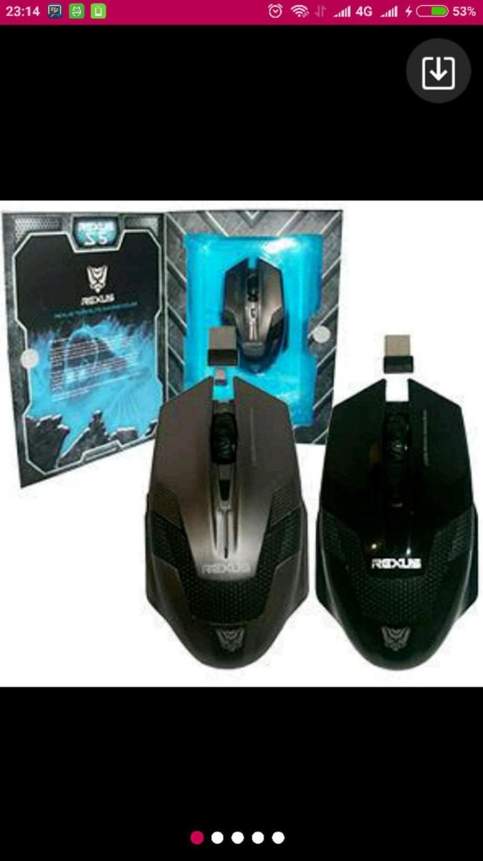 Jual Rexus Wireless Gaming Mouse S5 Aviator Juragankim Tokopedia