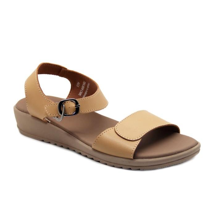 harga Mascotte 784 004 | sandal wedges wanita - camel - camel 39 Tokopedia.com