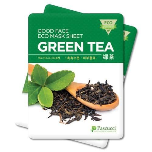 Eco Mask Sheet Green Tea - Korean Skin Care Facial - Masker Teh Hijau