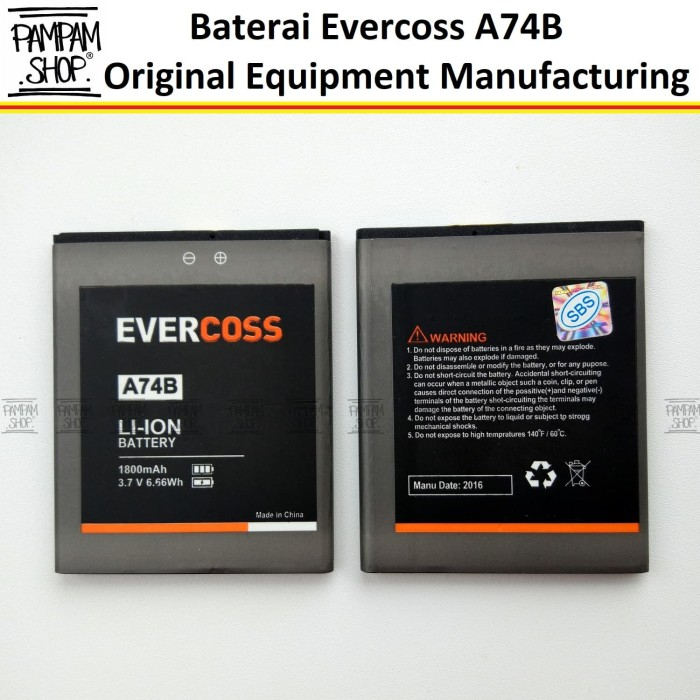 harga Baterai evercoss a74b double power elevate x| batre evercross cross Tokopedia.com