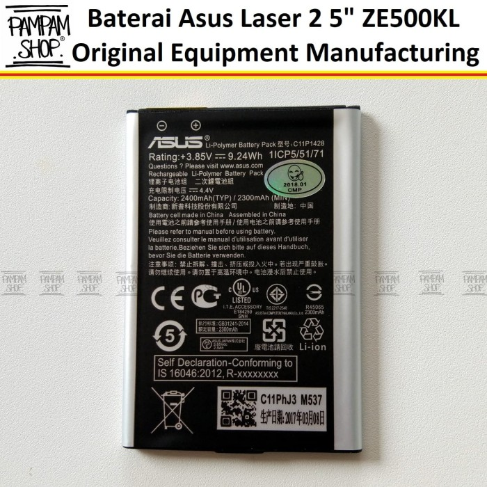 harga Baterai handphone asus zenfone 2 laser 5  inch ze500kl original inci Tokopedia.com