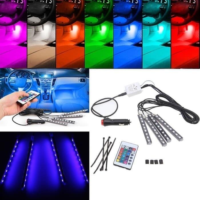 harga Lampu led kolong mobil rgb lampu dashboard 16 warna + remote Tokopedia.com