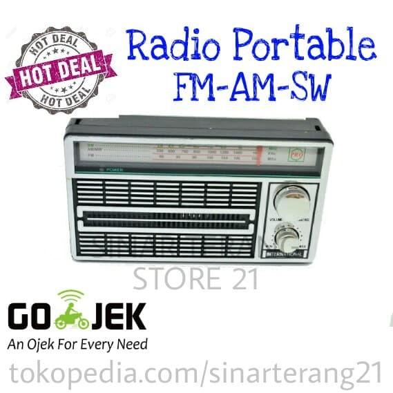 harga Radio portabel jadul antik 3 band fm-am-sw bisa baterai atau listrik Tokopedia.com