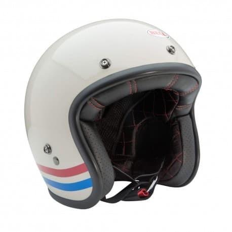 Helm Bell Custom 500 Stripes Pearl White New 3
