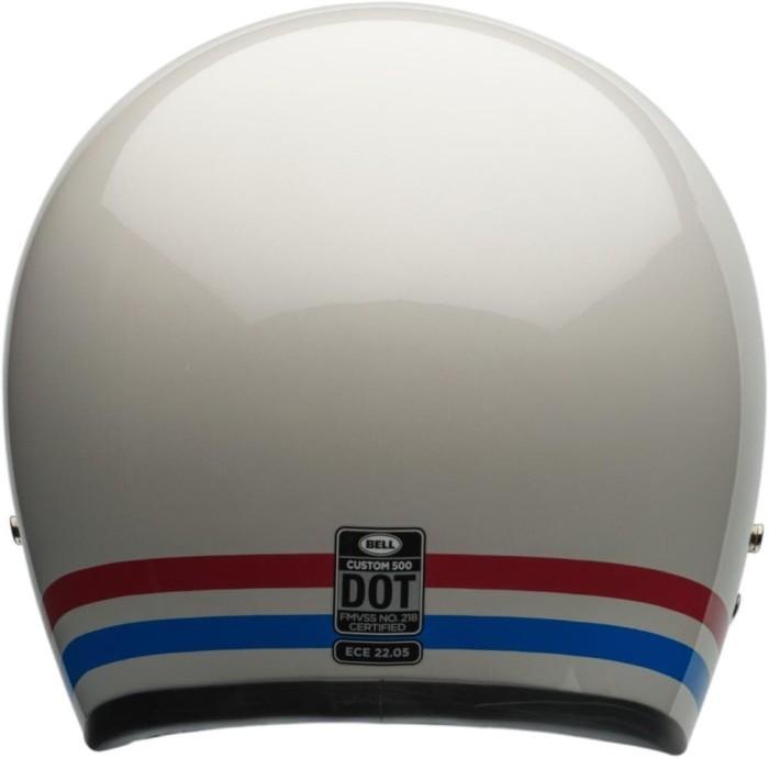 Helm Bell Custom 500 Stripes Pearl White New 4