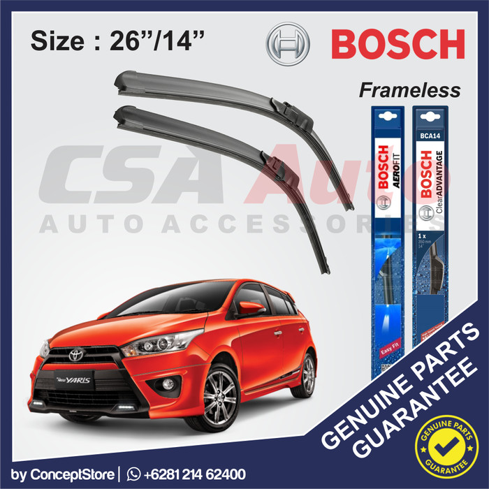 harga Wiper frameless all new yaris bosch clear advantage size 26 /14 Tokopedia.com