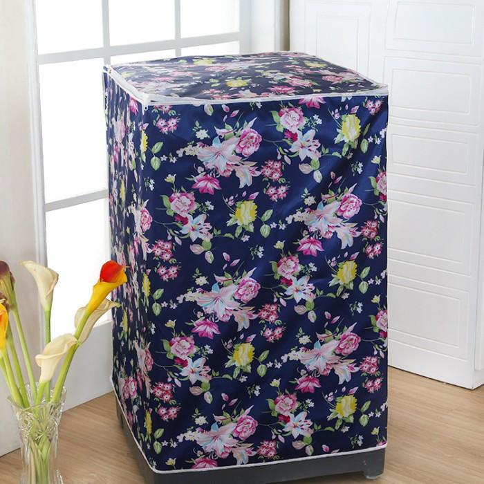 Foto Produk Cover Mesin Cuci NAVYFLOWER Bahan satin tebal, anti air, anti panas dari Toko Unik 17