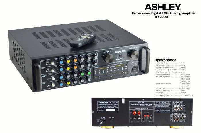 harga Ampli karaoke ashley ka 3000 key kontrol Tokopedia.com
